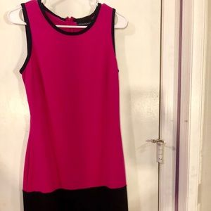 Fuchsia and Black Dress
